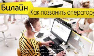 Как позвонить оператору Билайн — быстрый способ