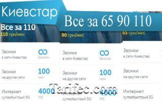 Тарифы киевстар все за 65, 90, 110 какой выгодней для бизнеса?