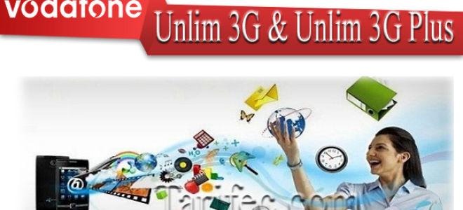 Тариф Vodafone Unlim 3G и Unlim 3G Plus — безлимитный интернет